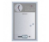 Доска часы календарь магнитно-маркерная 30х45