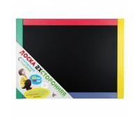 Доска для мела, магнитно-маркерная в цветной деревянной рамке 53х41