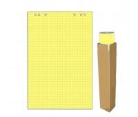 Блок для флипчарта 20 листов в клетку цвет желтая пастель