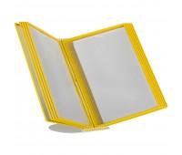 Перекидная информационная система А4, на 10 панелей Цвет желтый