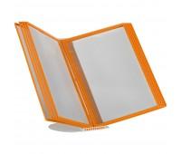 Перекидная информационная система А4, на 10 панелей Цвет оранжевый