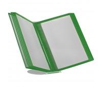 Перекидная информационная система А4, на 10 панелей Цвет зеленый