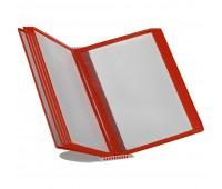 Перекидная информационная система А4, на 10 панелей Цвет красный