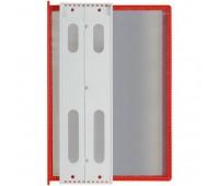 Перекидная информационная система А4, на 10 панелей. Цвет красный