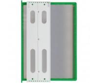 Перекидная информационная система А4, на 10 панелей. Цвет зеленый.