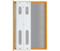 Перекидная информационная система А4, на 10 панелей. Цвет Оранжевый