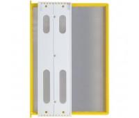 Перекидная информационная система А4, на 10 панелей. Цвет желтый